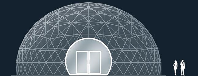 Модель GeoTenso GeoDome 314м2