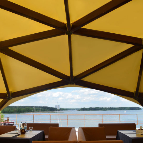 Пляжные шатры-навесы для кафе